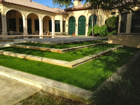 fake grass backyard