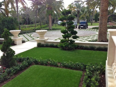 Courtyard Grass Pavers