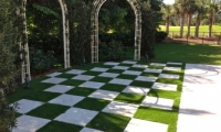 Artificial Grass Checkerboard