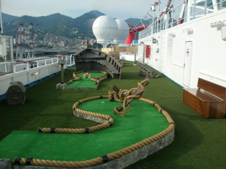Cruise Ship Synthetic Grass Mini Golf Courses