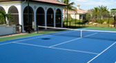 Backyard Tennis and Basketball Courts Florida