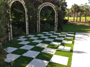 Grass Checkerboard