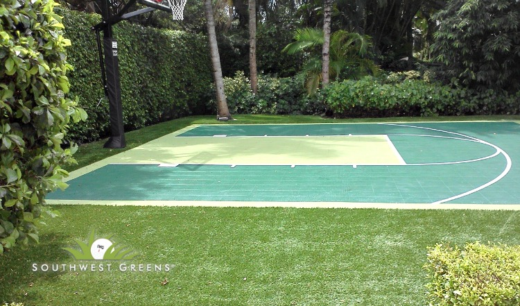 Synthetic Turf Basketball And Tennis Courts Artificial Grass