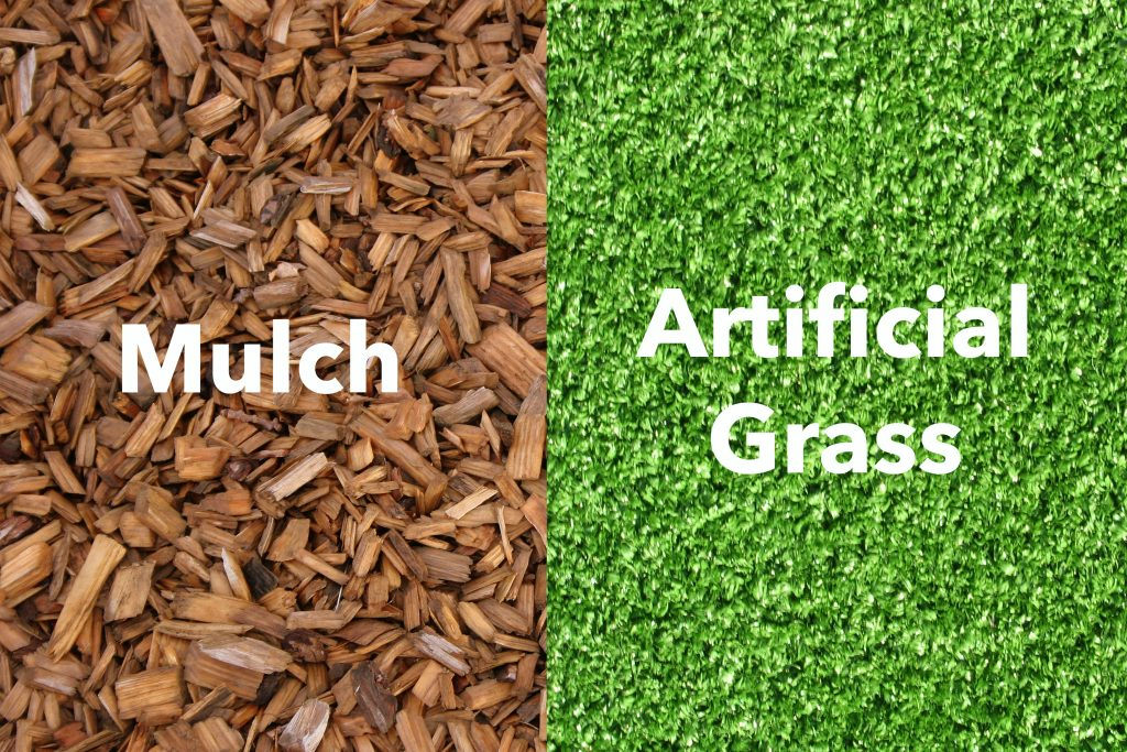 should i use mulch or synthetic lawns in west palm beach