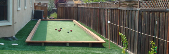 can i use artificial grass in miami for bocce ball courts