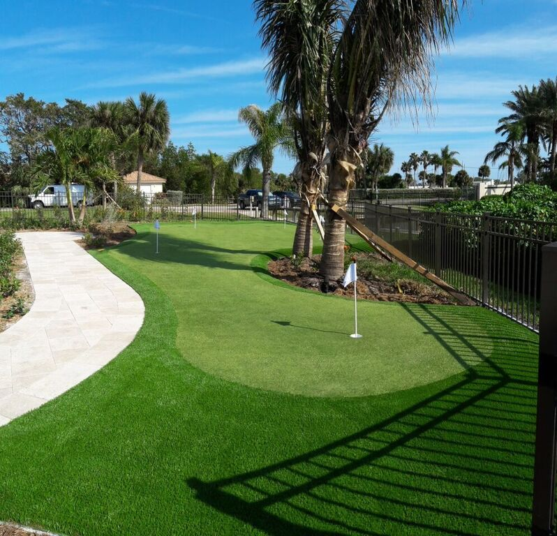 how can i become a better golfer with synthetic putting greens in florida